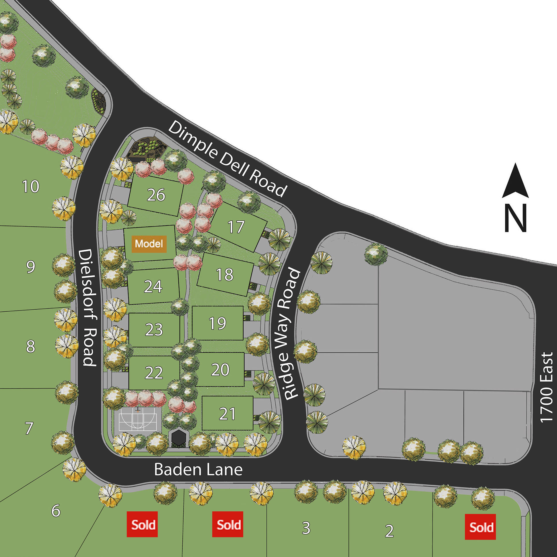 Site Plan - Villas at Dimple Dell