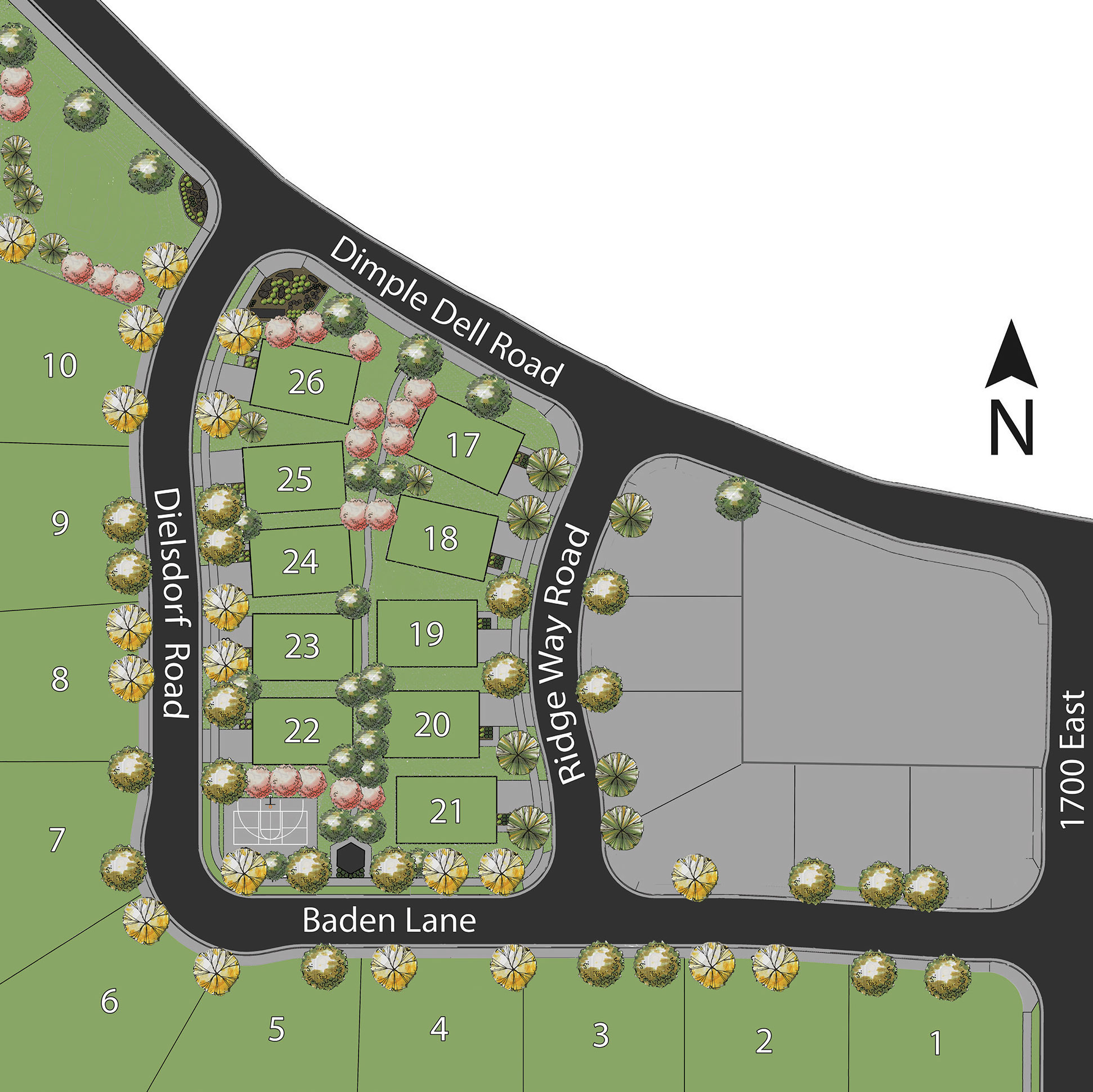 Site Plan - Villas at Dimple Dell