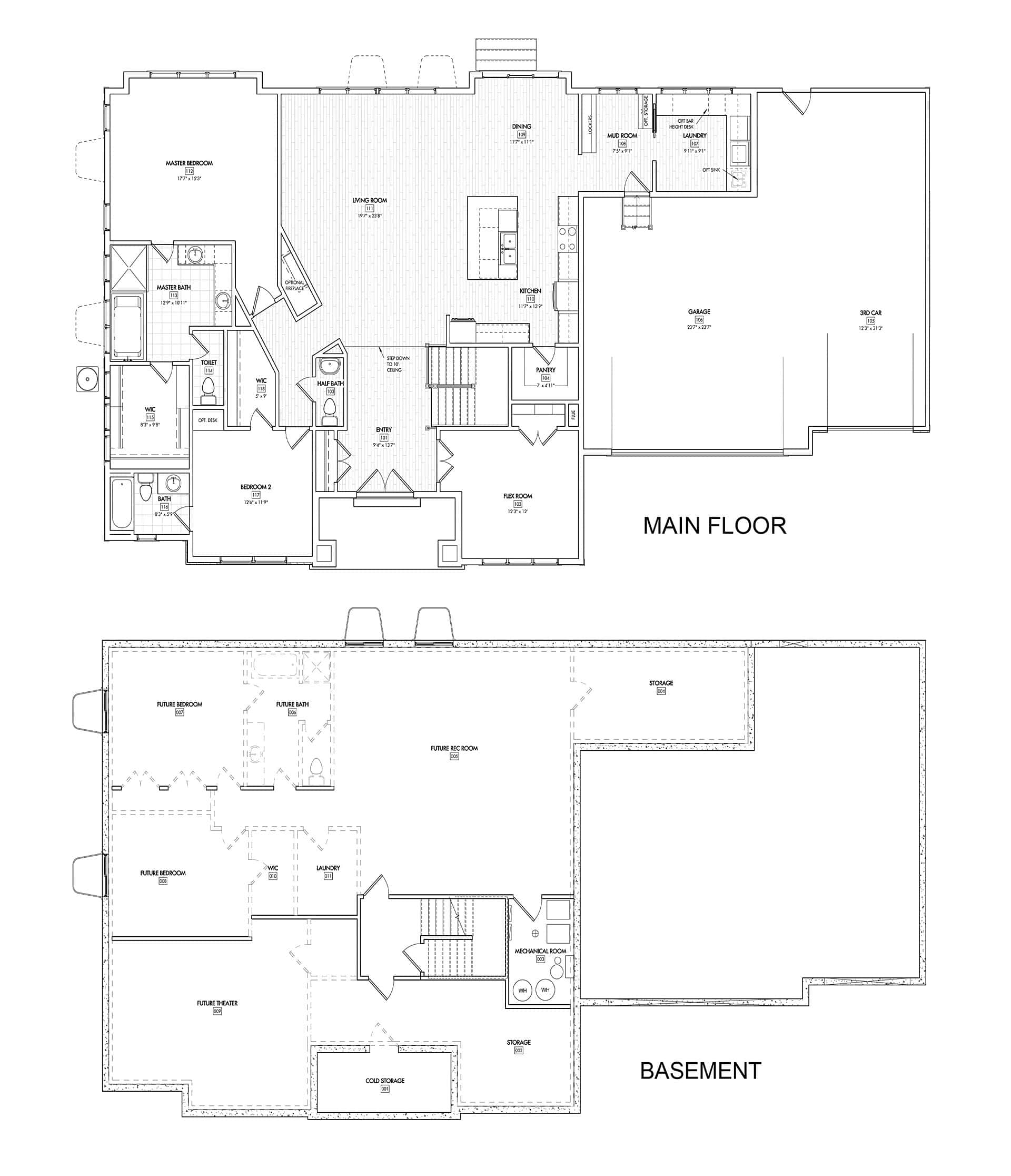 The villas at dimple dell sandy utah new construction for Rambler floor plans with basement