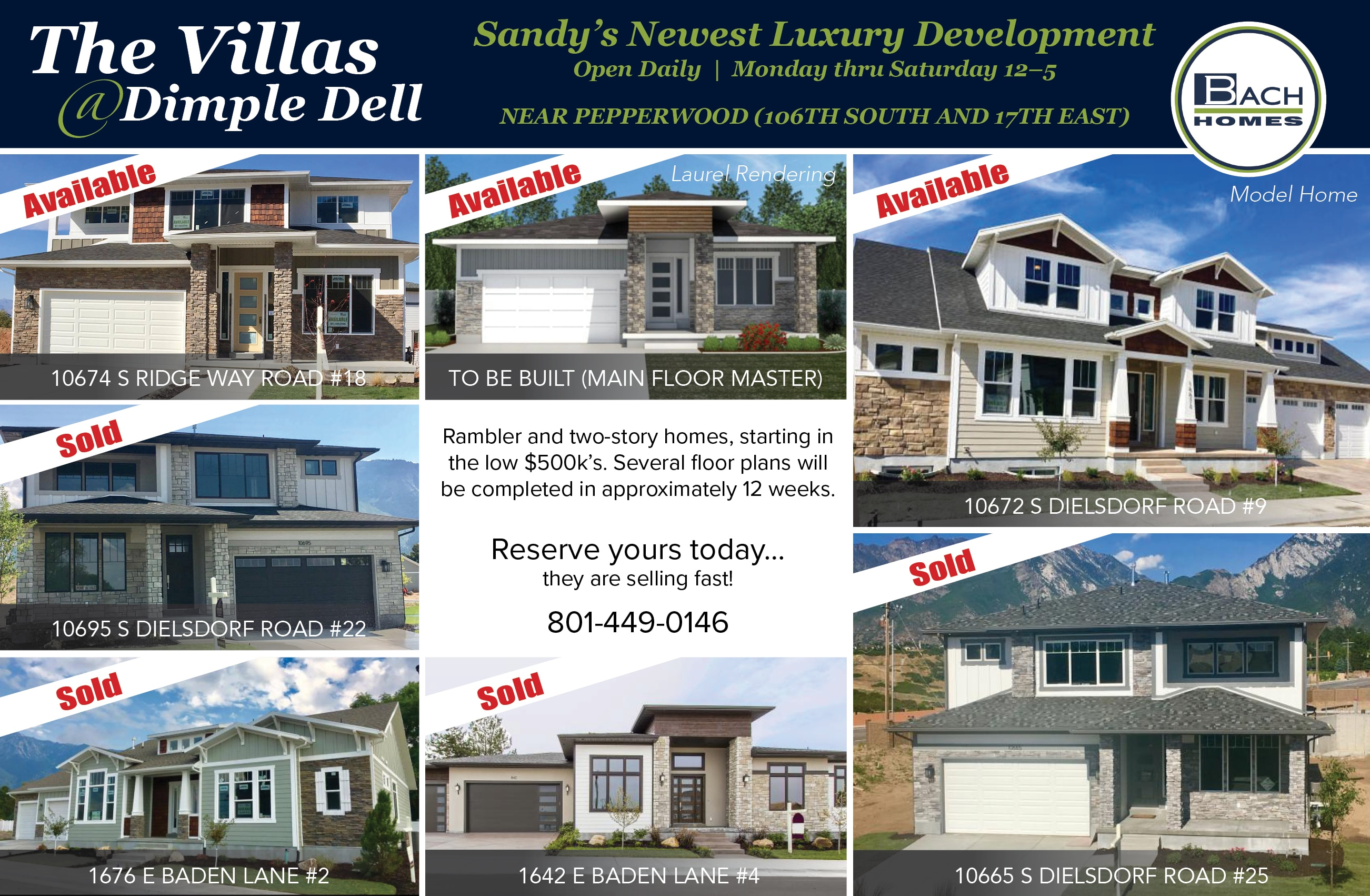 NEW LUXURY HOMES FOR SALE IN SANDY